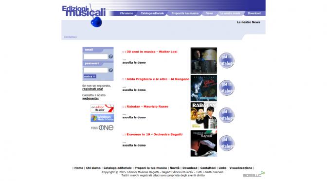 Online il nuovo sito delle Edizioni Musicali Bagutti